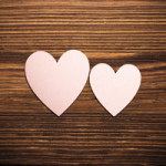Hearts on Wood - DeinDesign