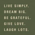 live simply - VISUAL STATEMENTS